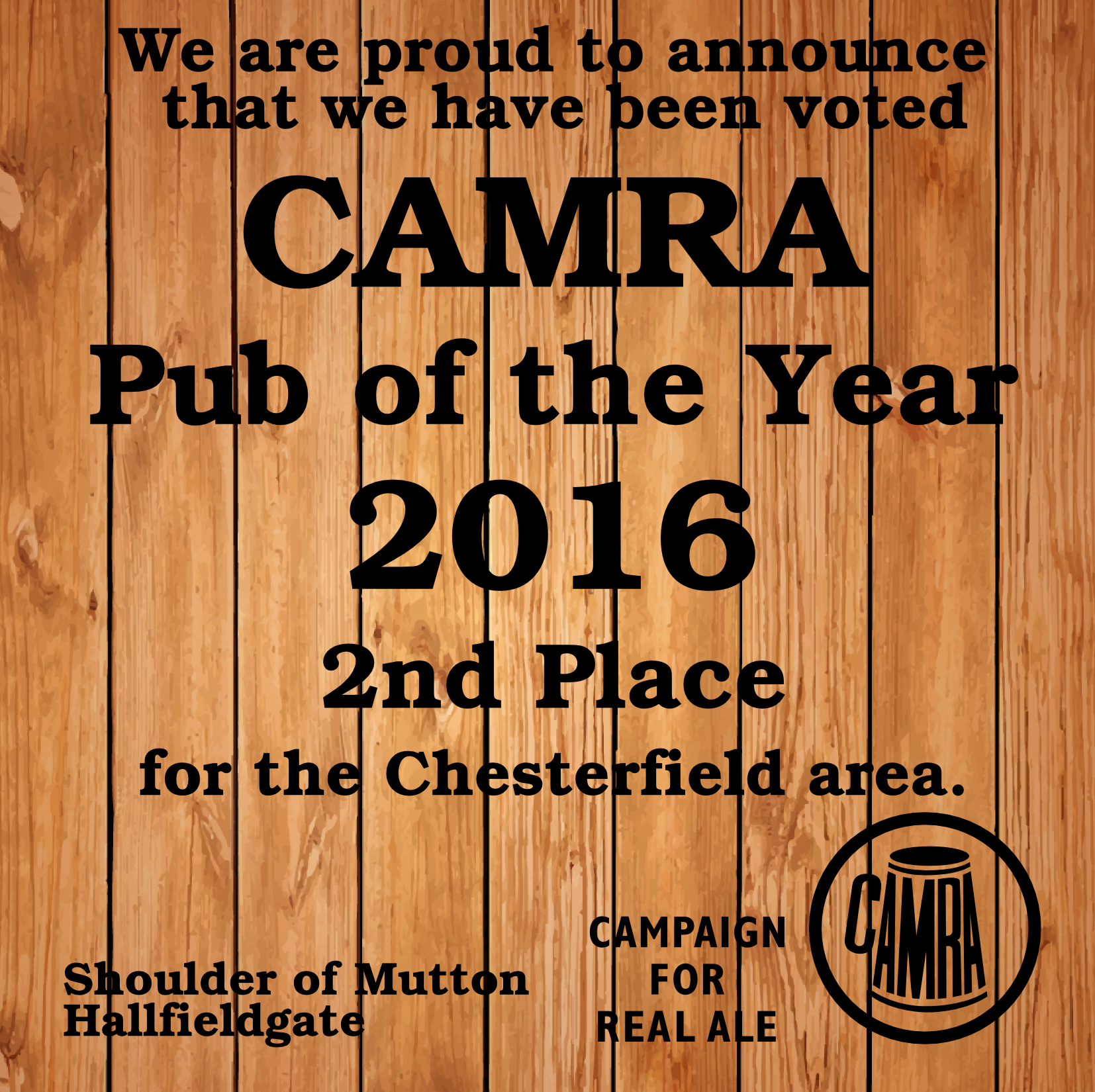 Pub of the Year 2016 - 2nd place